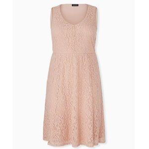 Torrid Pink Lace Midi Dress